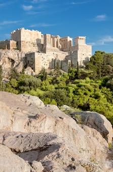Twierdza akropol z areopagu w atenach
