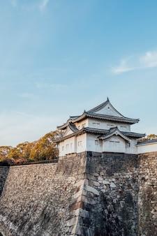 Twierdza zamku w osace, japonia