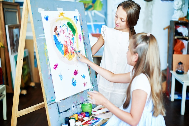 Tworzenie malowania palcami