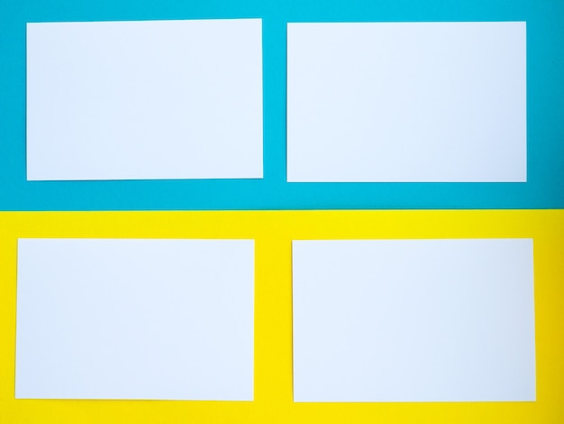 Tworzy tło od białego do żółtego i niebieskiego, jasne kolory, puste miejsce na tekst