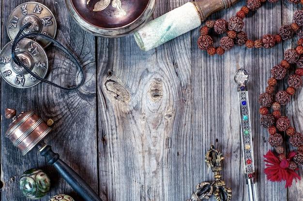 Tybetańskie przedmioty etniczne do medytacji i relaksu