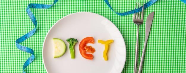 Tygodniowy plan diety. pojęcie prawidłowego żywienia. selektywne skupienie.