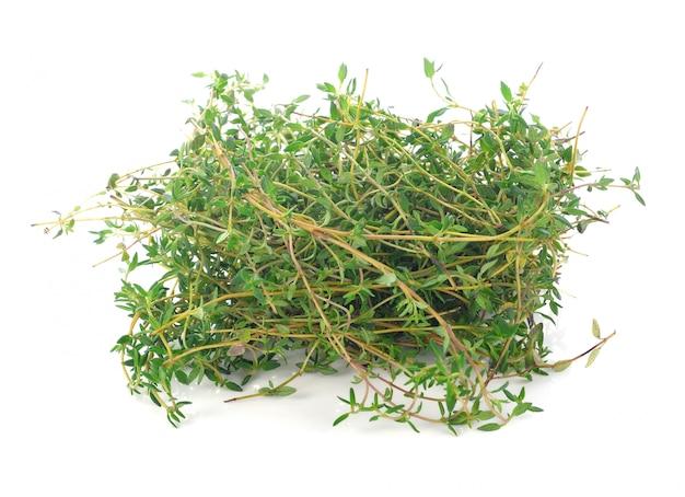 Tymiankowy ziele odizolowywający na białym tle