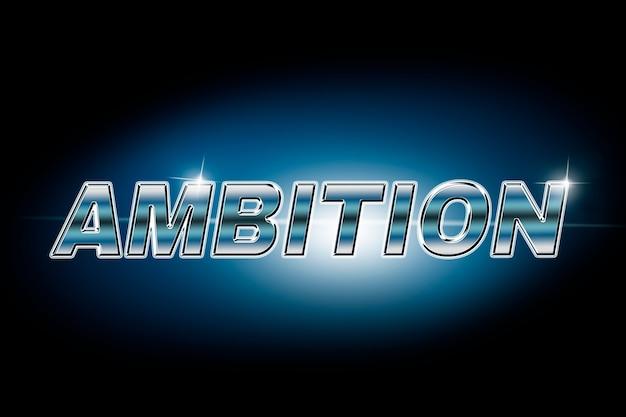 Typografia ambicji w czcionce flary obiektywu