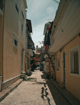 Typowa ulica w mieście zante