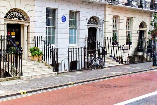 Typowe angielskie domy, londyn city