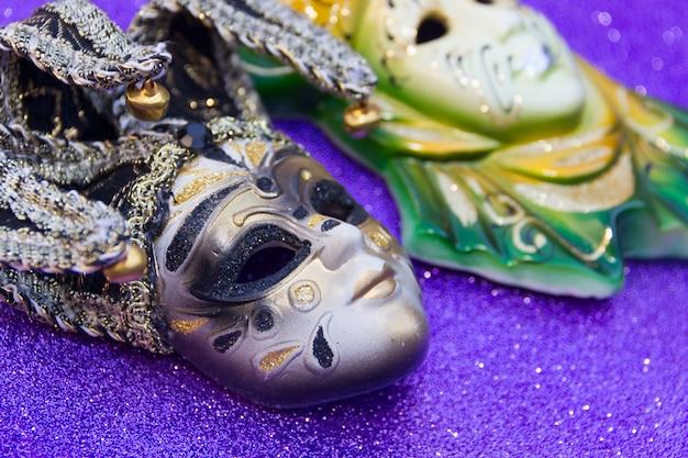 Typowe maski tradycyjnego karnawału w wenecji