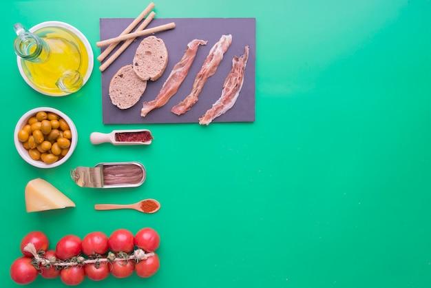 Typowe składniki hiszpanii