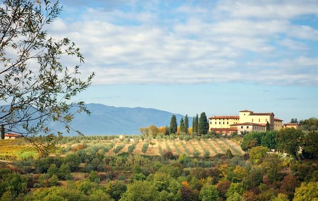 Typowe toskańskie wzgórze