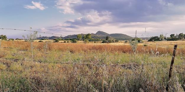 Typowy krajobraz południowej sardynii costa rei, muravera