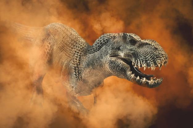Tyrannosaurus t-rex, dinozaur na białym tle.