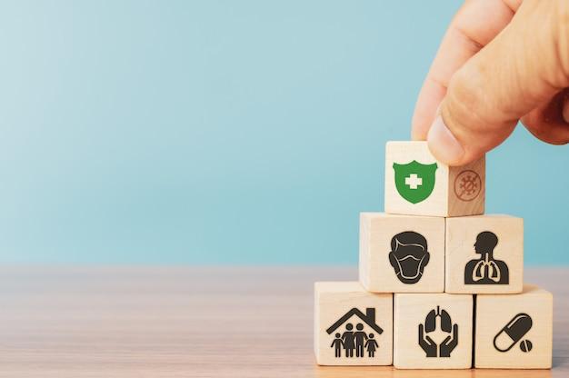 Ubezpieczenia i koncepcja inwestycyjna zdrowia, życia.