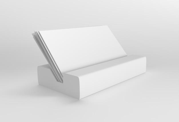 Uchwyt do renderowania 3d na wizytówki stojak na zdjęcia do makiety i projektowania szablonu.