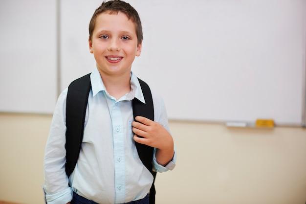 Uczeń czeka na lekcję