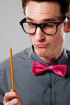 Uczeń nerd man