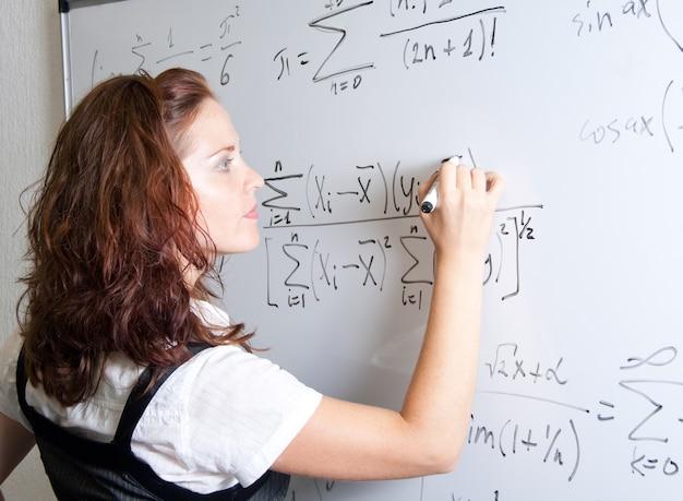 Uczeń przy tablicy