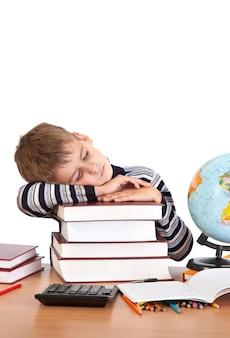 Uczeń śpi