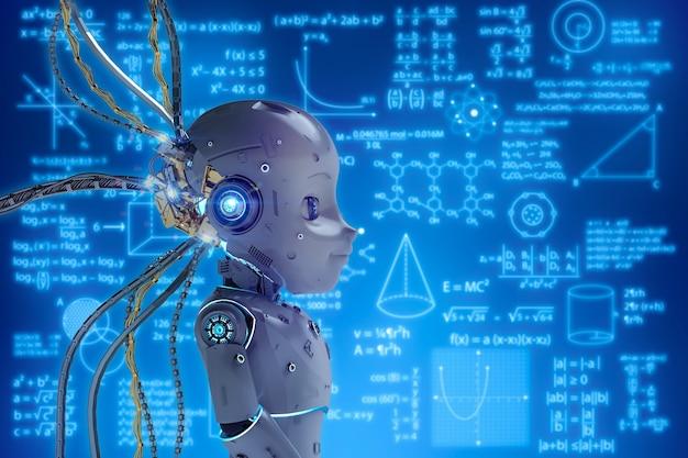 Uczenie robotów renderujących 3d lub uczenie maszynowe z interfejsem edukacyjnym hud