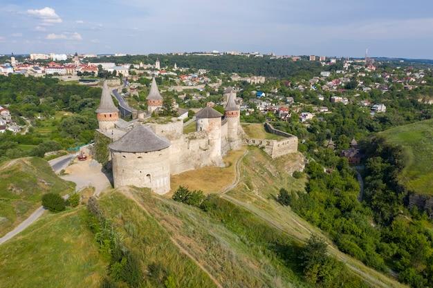 Ujęcie starego zamku, widok z góry