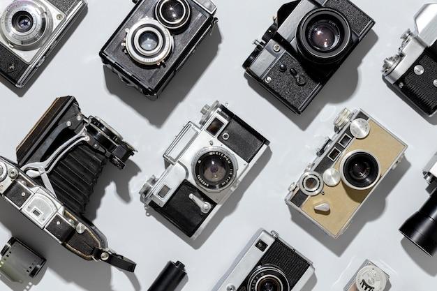 Układ Aparatów Fotograficznych W Stylu Vintage Darmowe Zdjęcia