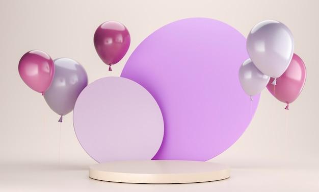 Układ balonów ze sceną
