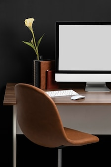 Układ biurka biznesowego