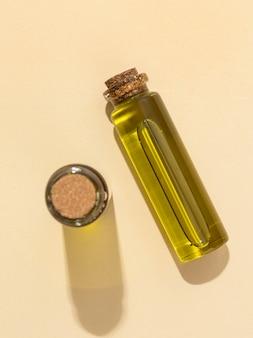 Układ butelek oleju z konopi indyjskich