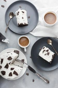 Układ ciasta widok z góry