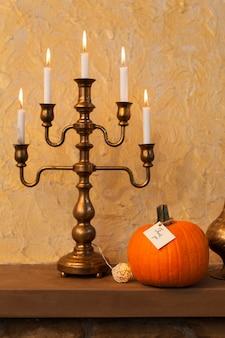 Układ dziękczynienia ze świecami