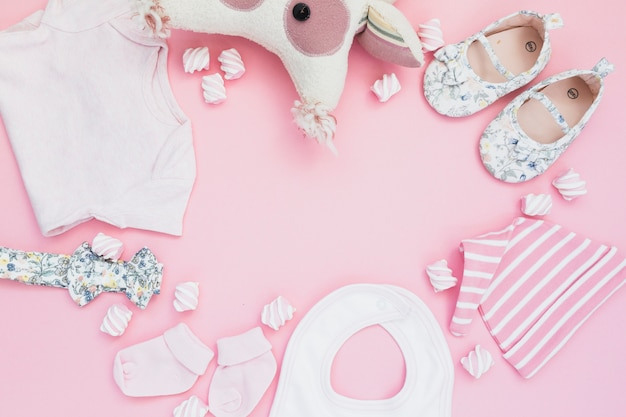 Układ dziewczęcy baby shower