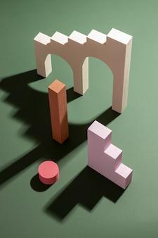 Układ elementów projektu renderowanego 3d