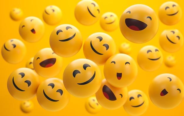 Układ emotikonów na światowy dzień uśmiechu