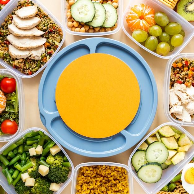 Układ gotowania wsadowego z pomarańczową okrągłą kartą