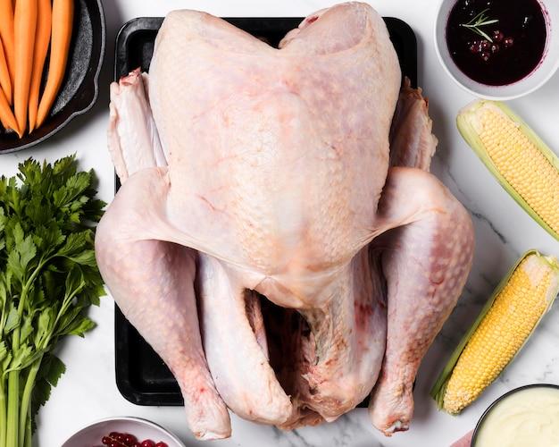 Układ jedzenia na święto dziękczynienia