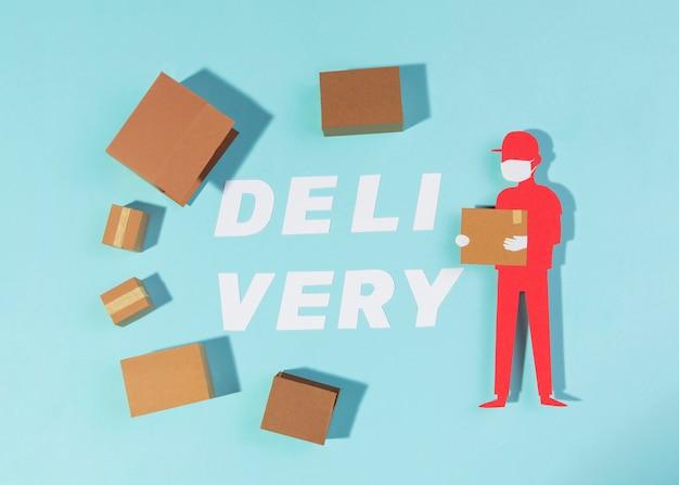 Układ kartonów wysyłkowych na płasko