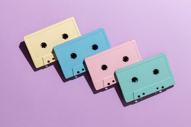 Układ kaset w stylu vintage