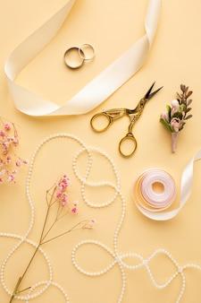 Układ koncepcji luksusowego ślubu