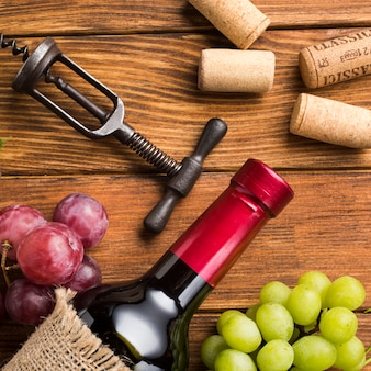 Układ na napój z czerwonego wina