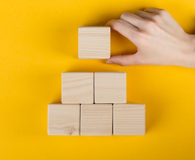 Układ Pustych Drewnianych Kostek Darmowe Zdjęcia