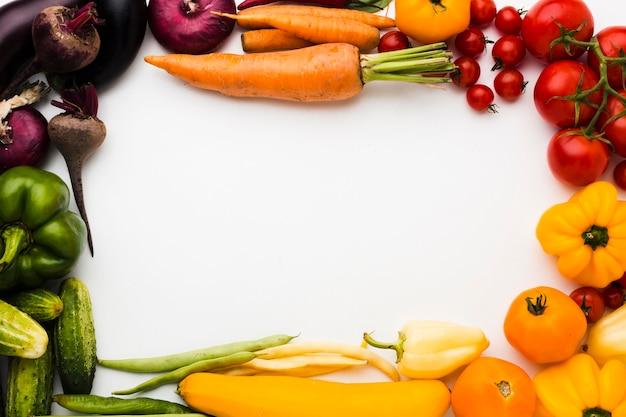 Układ ramowy wykonany z warzyw