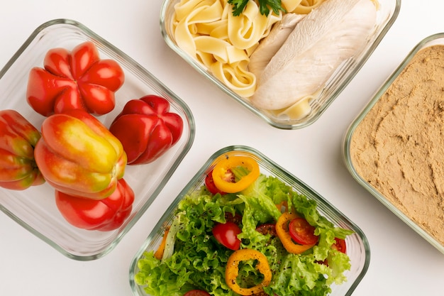 Układ różnych dietetycznych produktów spożywczych