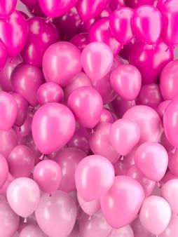 Układ różowe balony