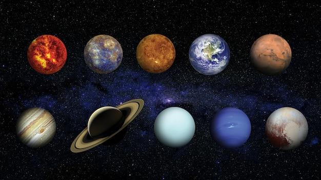 Układ słoneczny. elementy tego zdjęcia dostarczone przez nasa