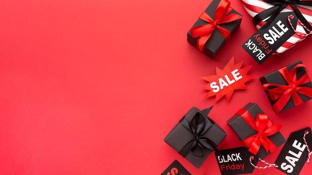 Układ sprzedaży w czarny piątek z miejscem na kopię