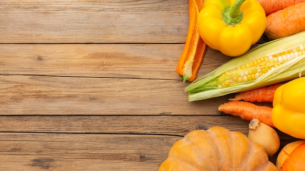 Układ świeżych warzyw