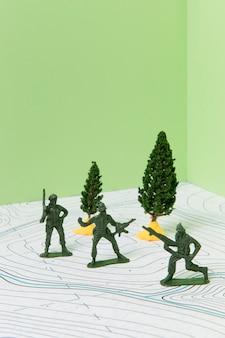 Układ tematyczny historii z żołnierzami