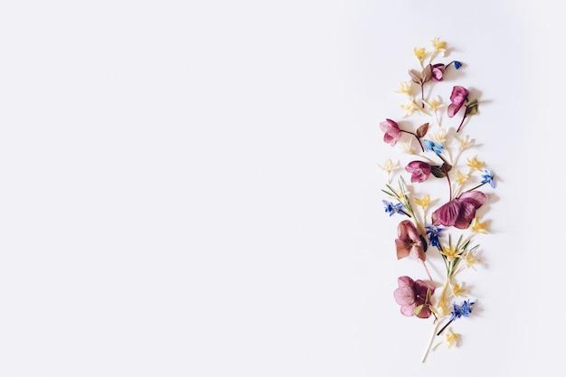 Układ wiosennych kwiatów