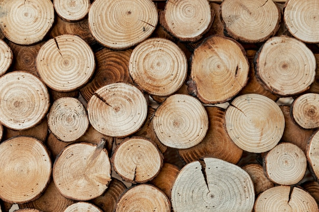 Układ z drewna ciętego na koncepcję rynku