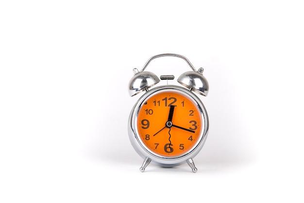 Układ zegara na białym tle
