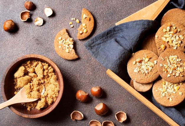 Układ zimowych ciasteczek deser